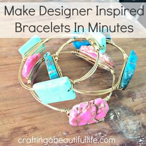 Make Designer Inspired Bracelets in Minutes