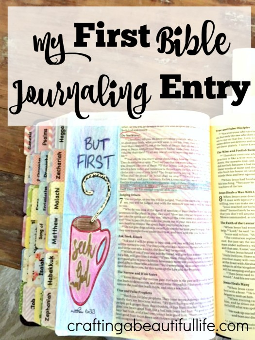 Bible Journaling: My first Entry