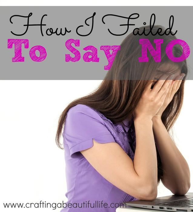 How I failed to Say No