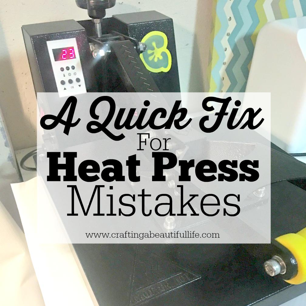A Quick Fix Heat Press Mistakes