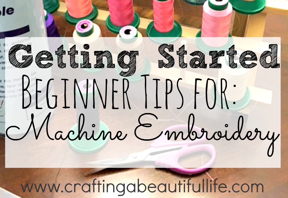 Learn how to get started with machine embroidery