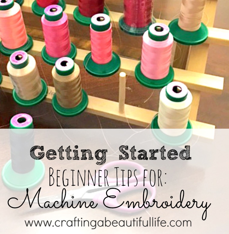 Getting started with machine embroidery. Learn everything you need to know to get started in creating monograms and embroidery designs.