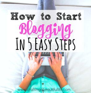 Start a Blog in 5 Easy Steps