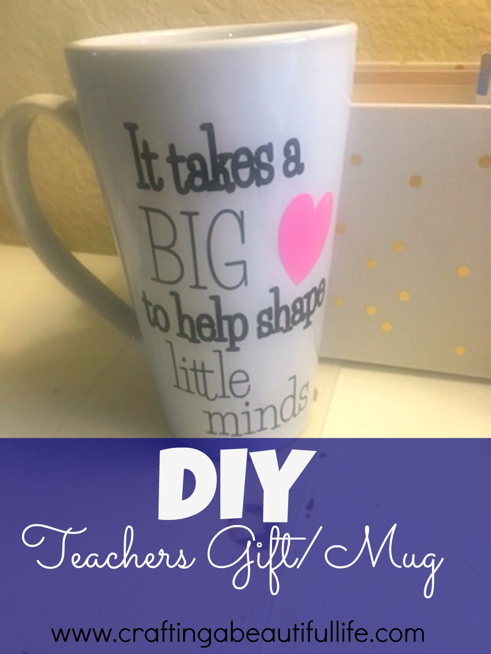 School is in Session + DIY Glitter Mugs