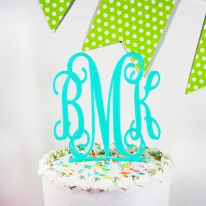 wedding cake monogram