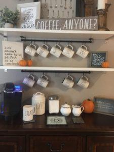 home decor coffee station