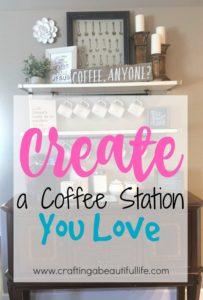 Create A Coffee Bar Station