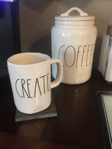 Create Rae Dunn coffee mug