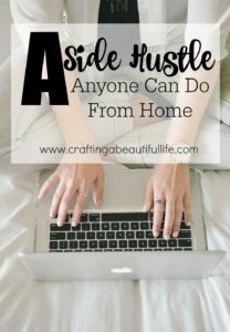 a side hustle job anyone can do form home to earn extra money.