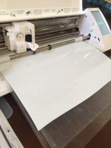 white vinyl cutting machine