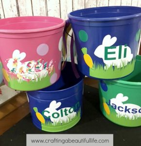 Vinyl Easter buckets