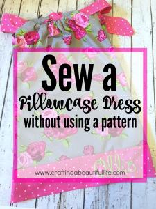 Beginner sewing project: pillowcase dress
