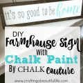 DIY Farmhouse sign using chalk couture chalk paint.