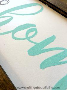 DIY Chalk Paint Sign