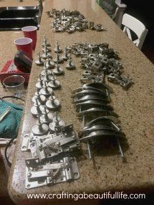 kitchen hardware removed