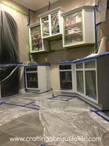 Spraying your kitchen Cabinets