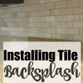 DIY Tile Backsplash