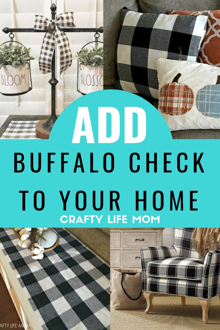 16 Plus ways to add buffalo check to your home. Decorate seasonally or year round with these buffalo check home decor items you need to get!