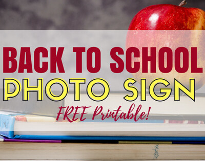 Back To School Photo Sign Printable. Download and use these printable for your back to school photos this year. Super cute and FREE!
