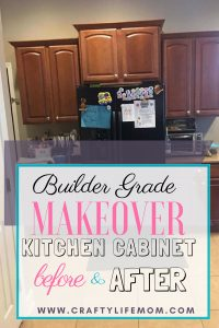 Builder Grade Kitchen Cabinet Makeover