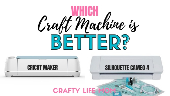 Which machine is better? The Cricut Maker versus the SIlhouette Cameo 4. Everything you need to know to decide which one is best for you. Plus, I give my honest review and opinion of both machines. #cricutmaker #silhouettecameo #silhouettecameo4 #cameo4 #makervscameo #cricutversusilhouette