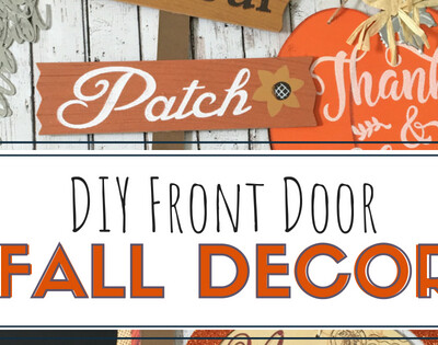 DIY Fall Front Door that you can make for $5 using items form the Dollar Tree!