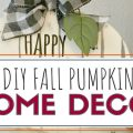 DIY Farmhouse Fall Pumpkin Sign. Using items from the dollar tree re create this pumpkin for only a few simple bucks.