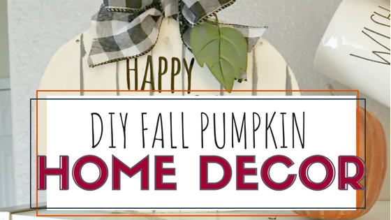 DIY Fall Pumpkin Decor Sign