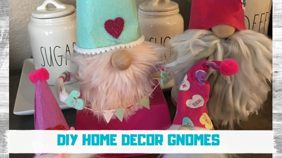 Learn to create these adorable DIY gnomes using items from the Dollar Tree and local craft store. These are sure to make any home fun and trendy. You can evenmake them seasonal for the holidays or year round. #valentinesgnome #diygnomes #dollartreegnome #dollartreecrafts #dollartreediys