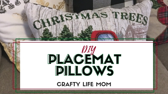 DIY Placemat Pillow for Christmas