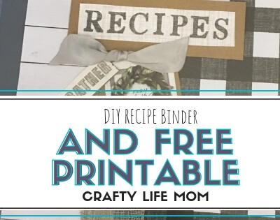 DIY Recipe Binder And Free Printable
