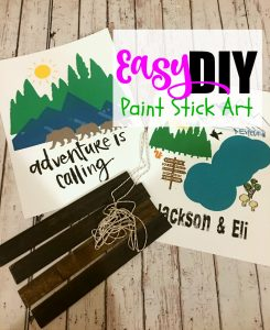 Easy Paint Stick Art