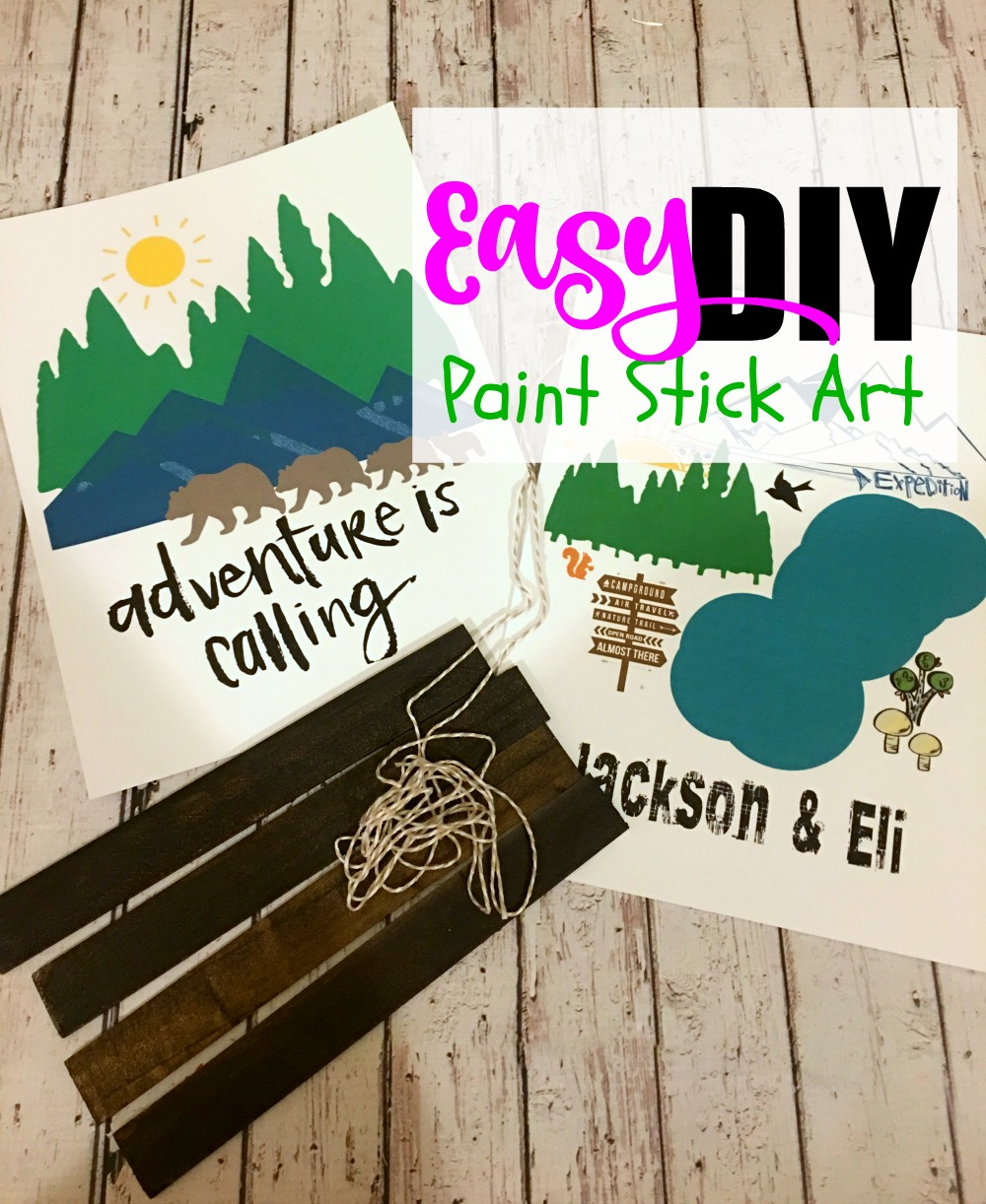DIY Paint Stick Art