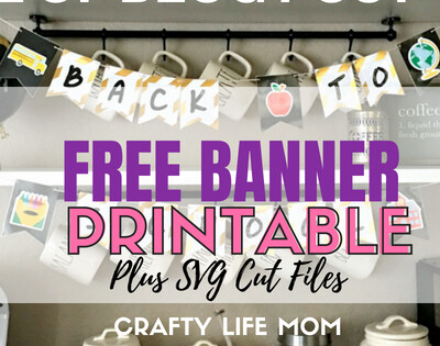 Back to School Banner Printable