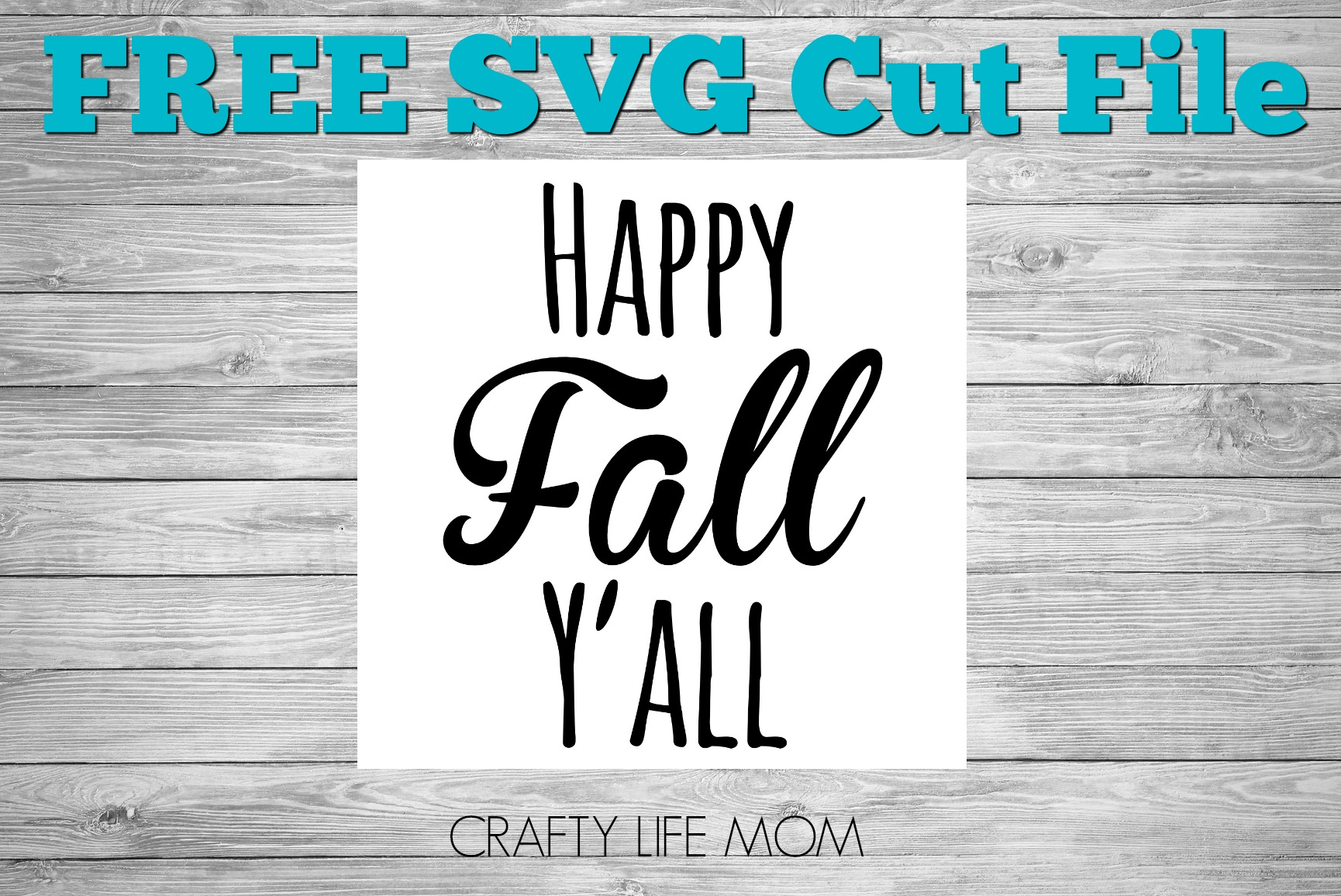 FREE SVG Cute File Happy Fall Yall
