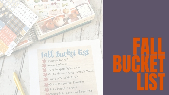 Fall Must Do Bucket List