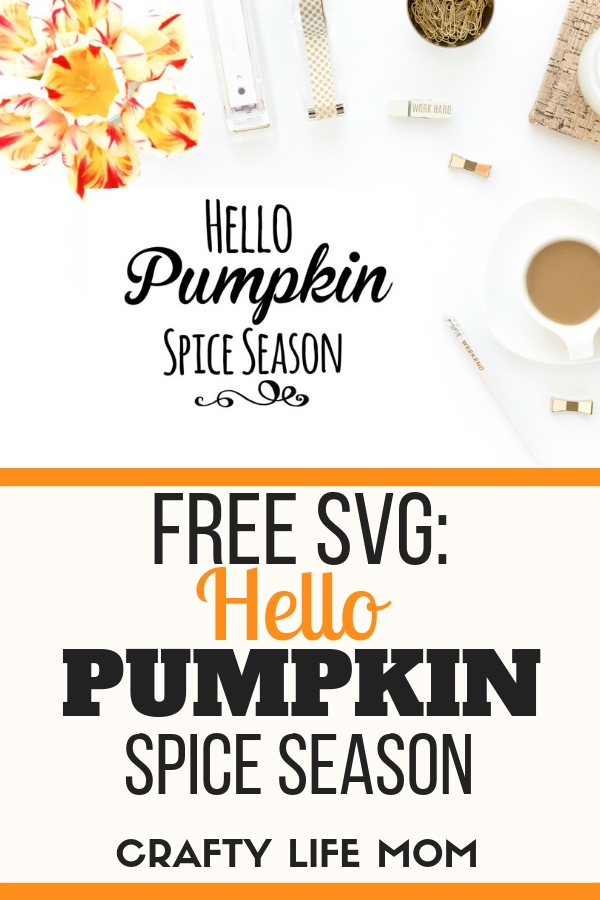Dollar Tree Pumpkin Spice sign: follow this quick tutorial and video to easily make your own Hello Pumpkin Spice Season home decor sign. Video tutorial is included and FREE SVG file available for download.
