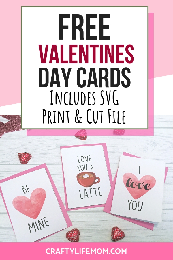 Make these adorable Valentines Day Cards! Using these Free Valentines Day Cards SVG cut files you can create your own Valentines Day cards for all of your loved ones! #valentinesdaycard #freevalentinecard #valentinescardsSVG #freeSVG #Printandcut #craftylifemom