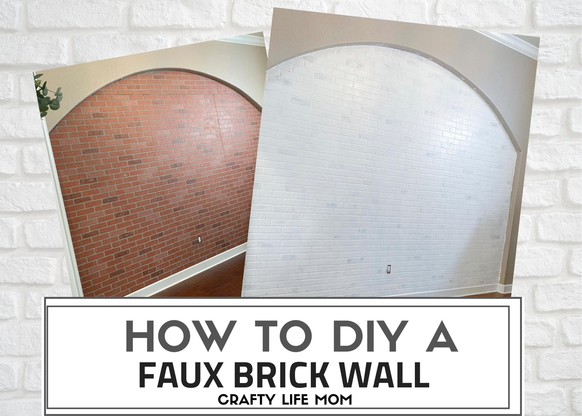 Create a feature or focal wall by making a faux brick wall using brick paneling and some paint to create a unique look. This tutorial shows you my step by step process of adding brick paneling and painting the brick wall.