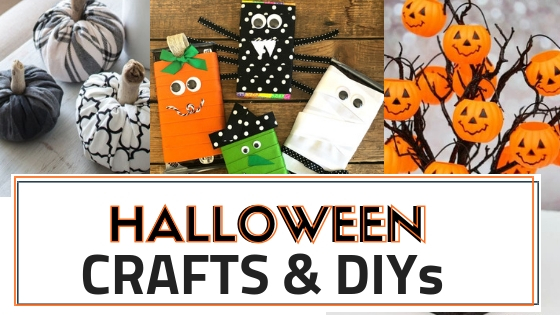 The best halloween Crafts adn home decor DIYs for Halloween this year.
