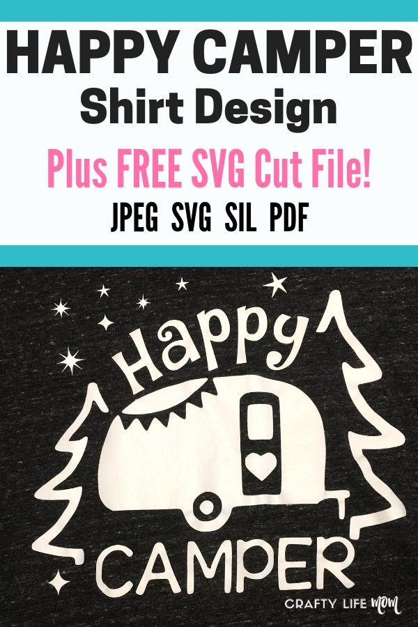 Download this Free SVG cut file from the Resource Library and use for your camping shirt needs!