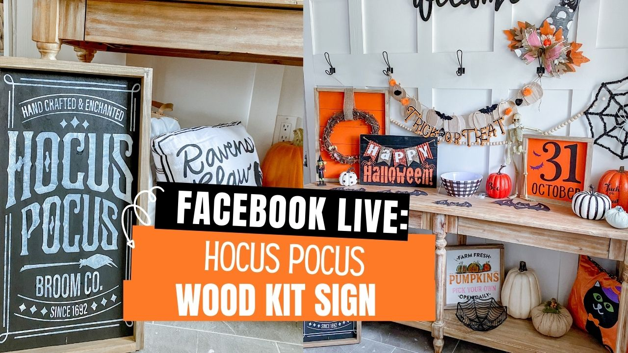 Create this cute Hocus Pocus Wood Sign using this easy to follow wood sign craft kit. This kit comes with everything you need excluding paint to create unique Halloween decor in your home.