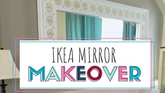 kea MIrror Makeover tutorial. Update your home decor with this simple trick and Ikea DIY hack.
