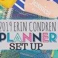 2019 Erin Condren Planner Set Up