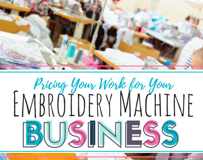 Pricing Your work for Embroidery. Learn to be profitable in your embroidery business by using this bloggers pricing strategy and methods