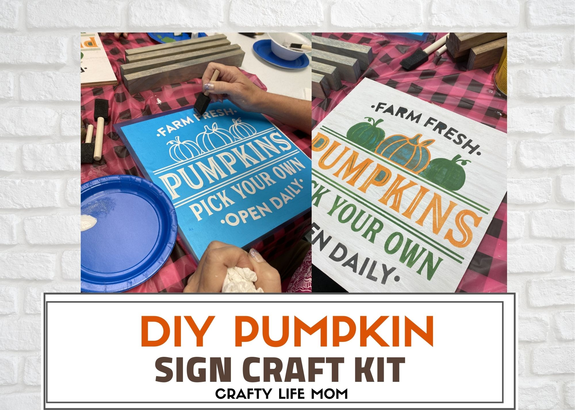 Create this Pick Your Pumpkin Patch Sign to complete your Fall home decor look with this simple DIY kit. This kit includes everything you need to make this Pumpkin Patch sign on your own.