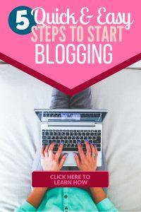 5 Steps to get started blogging