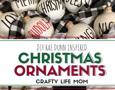 DIY Rae Dunn Ornaments & Free SVG File
