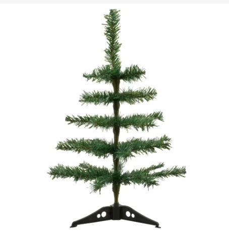 Dollar Tree table top DIY flocked Christmas Tree