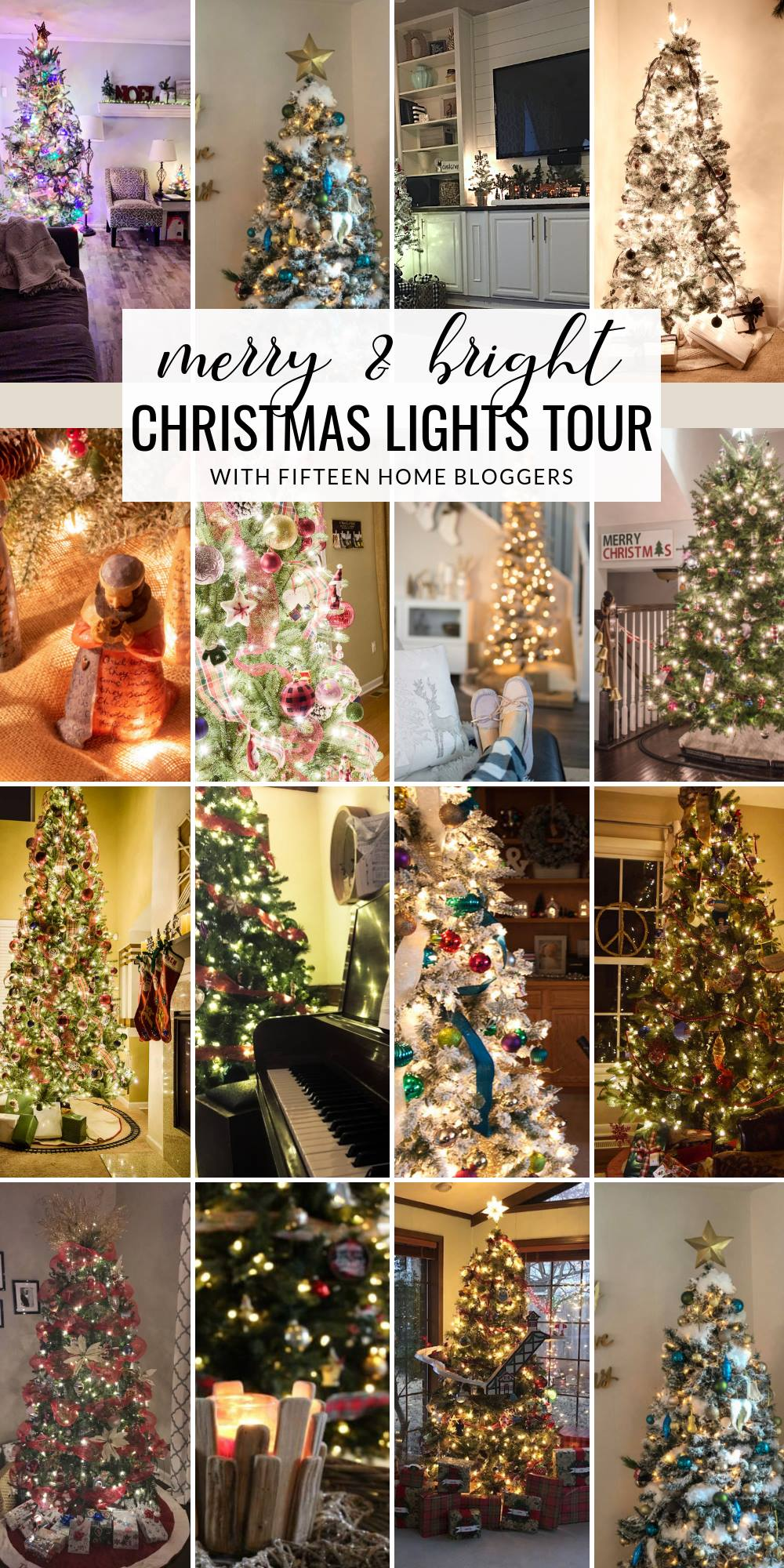 Merry and Bright Christmas Lights Tour. Follow along iwth 15 bloggers who share their love for Christmas Home Decor all in one place.